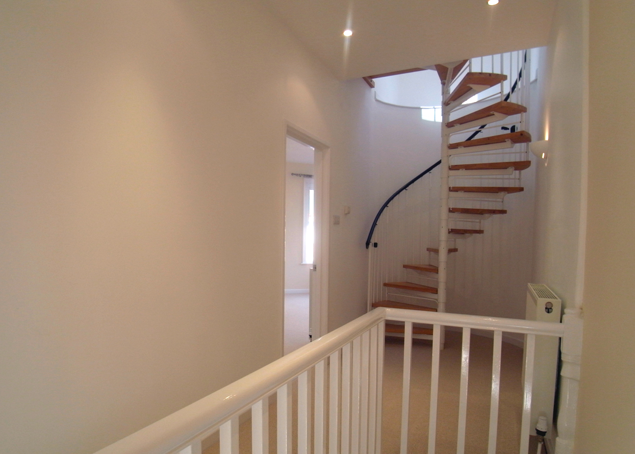 Architect Designed House conversion in Exmouth Devon, Spiral Stair